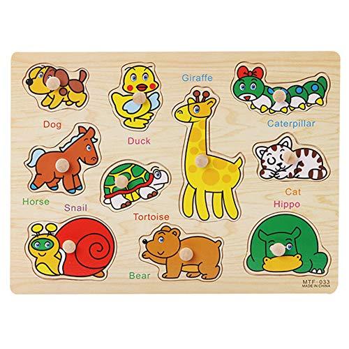 Juego puzzle 3d de madera